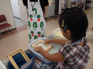 紙すき教室2